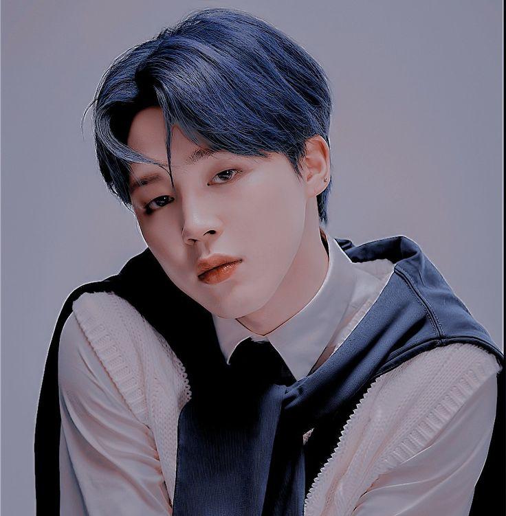 𝑱𝒊𝒎𝒊𝒏 (𝑩𝑻𝑺) jimin hot handsome cute boyfriend material dark blue hair hot concept photo 4 ...