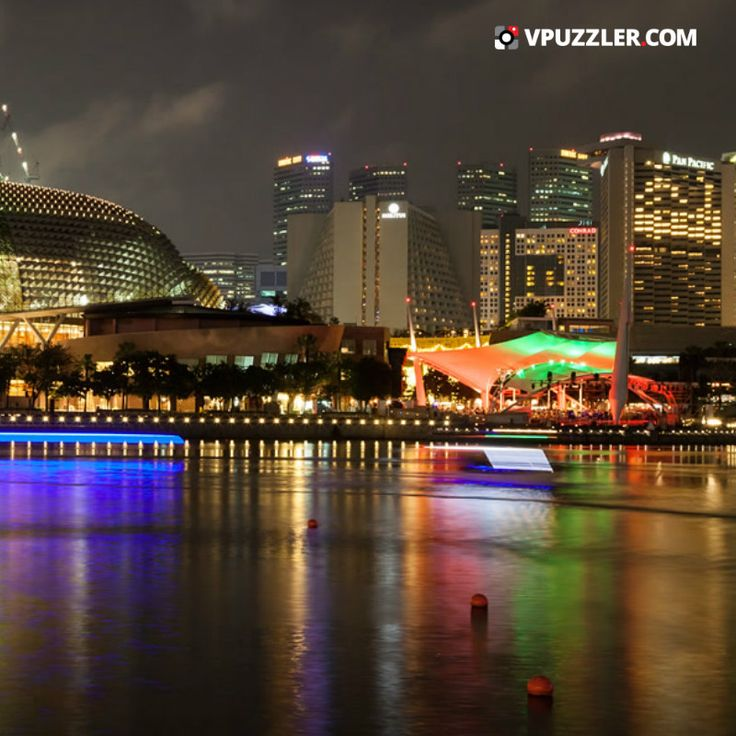 Night in Singapore #city #asia #architecture #cityscape