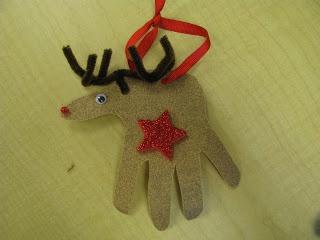 Classroom DIY Handprint Reindeer