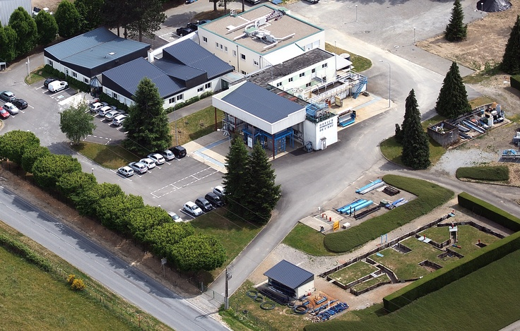 Le CNFME - Centre National de Formation aux Métiers de l'Eau (France, La Souterraine) : vue aérienne