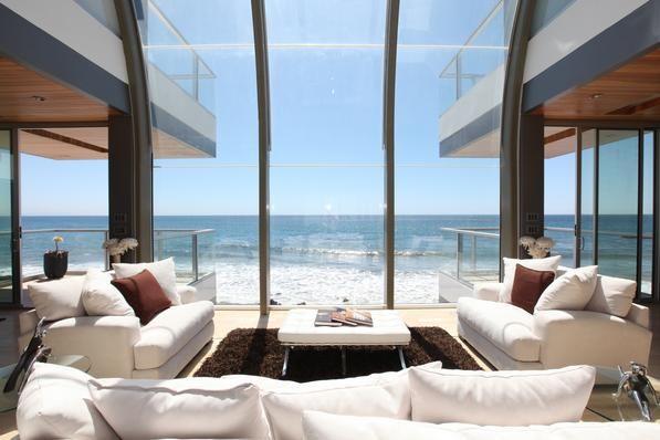 Dreamy...: Living Rooms, Beaches House, Decoration, Dream House, The Cities, Beachhous, Ocean View, Beaches Front, Malibu Beaches