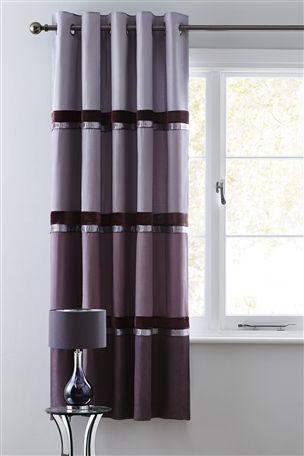 Buy Shinto Velvet Panel Eyelet Curtains from the Next UK online shop
