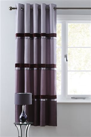 Buy Shinto Velvet Panel Eyelet Curtains from the Next UK online shop