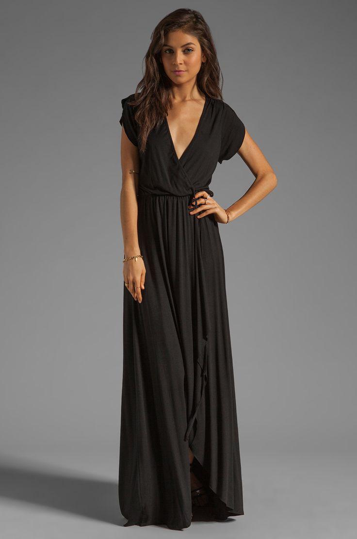 Rachel Pally Perpetua Wrap Dress in Black | REVOLVE