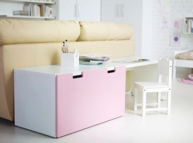 STUVA bank | #IKEA #DagRommel #kinderbureau #bureau #stoeltje #knutselhoek