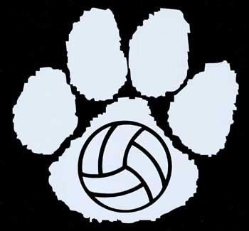 Volleyball Locker Signs | Bothell Cougars Window Decals