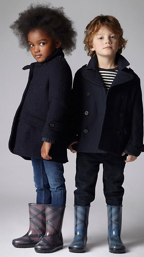 Cotton Jersey Pea Coat from Burberry