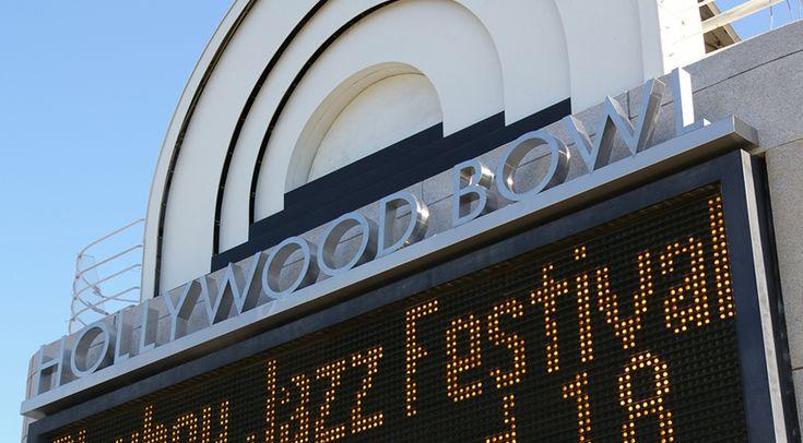 Hollywood Bowl, Complete signage system for popular music venue   Hunt Design