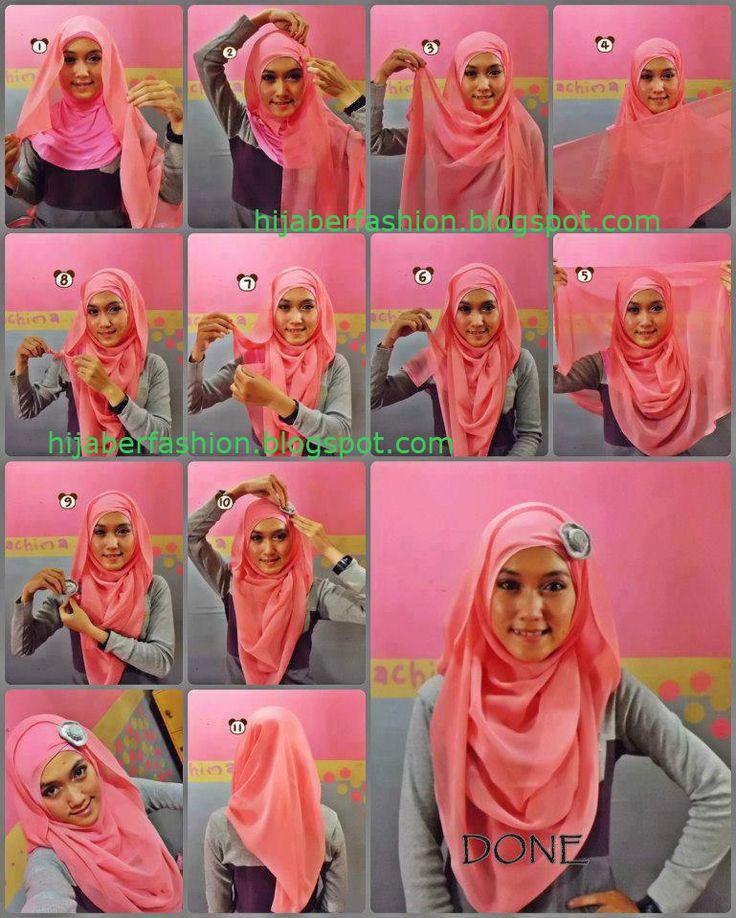 tutorial hijab paris