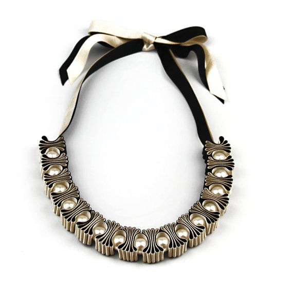 Collier  Collier ruban  collier de perles  bijoux  par maneggi