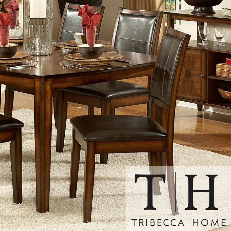 Frisco Bay Burnished Oak Dining Chair Set Of 2 By INSPIRE Q Classic