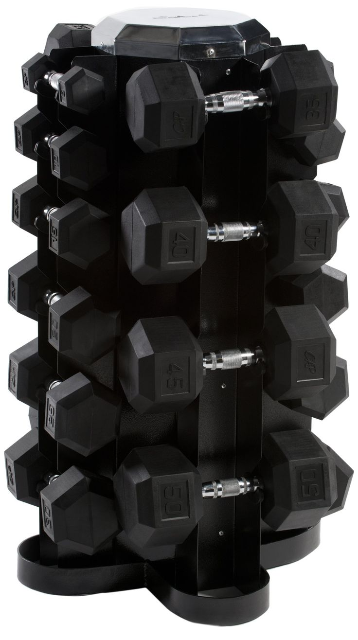 Cap Barbell Rubber Hex Dumbbell Set 550 Pound Pounds In 5 Increments With 4 Sided Vertical Rack