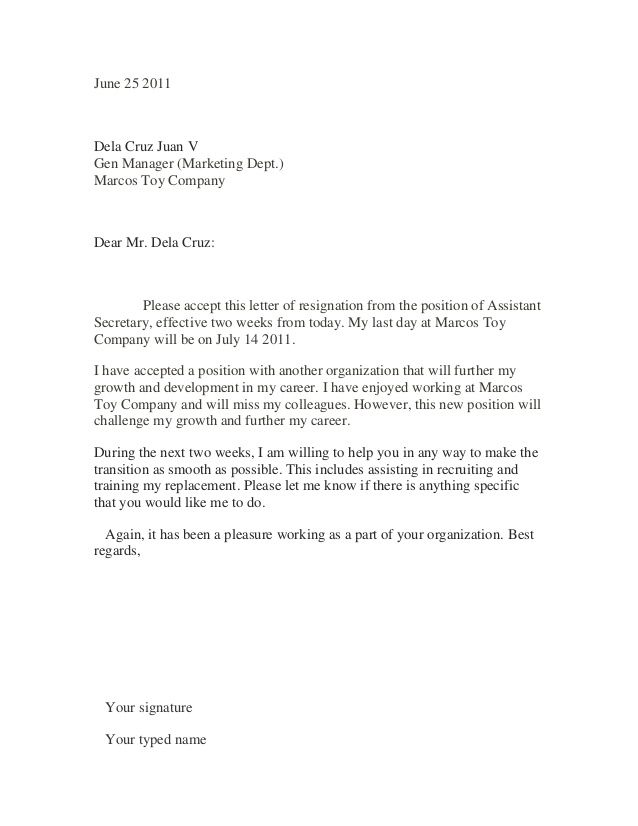 25  best ideas about sample of resignation letter on pinterest