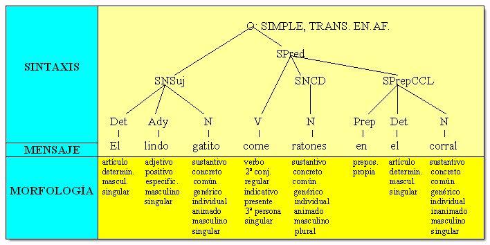 Metodo sintactico. Oracion simple