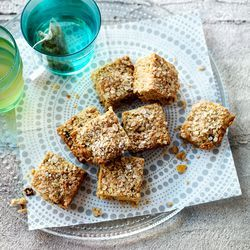 havermout plaatkoek met vruchten, gebruik glutenvrij meel