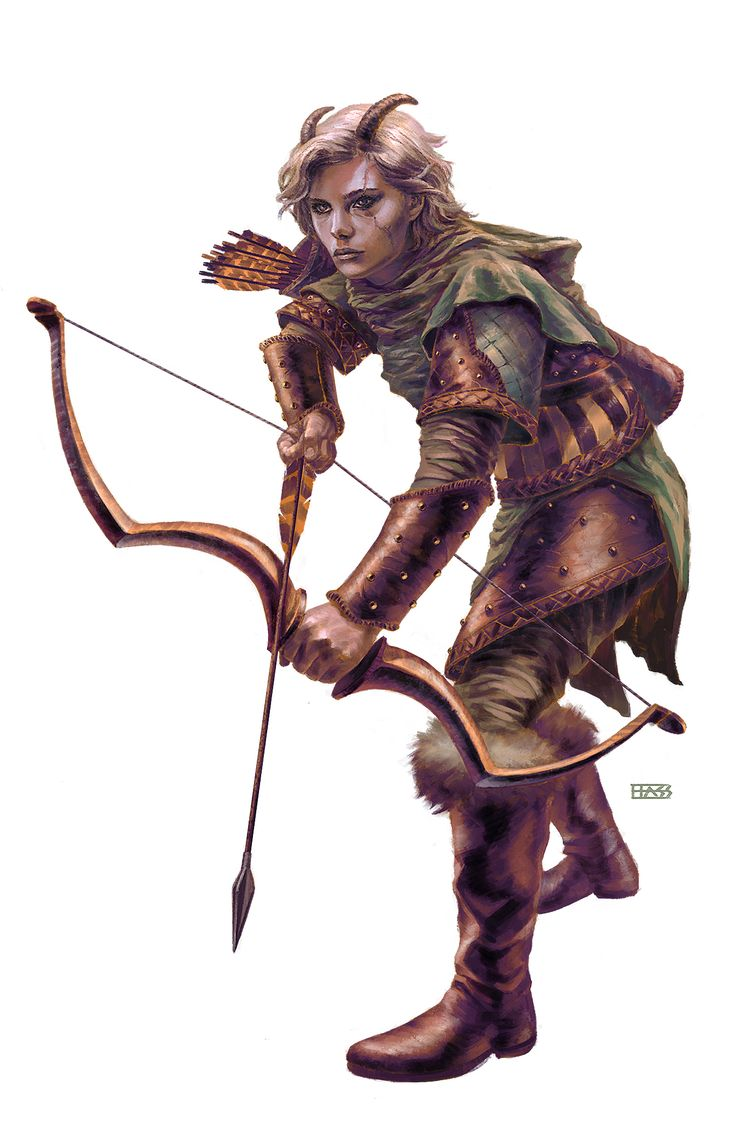 Horned archer babe