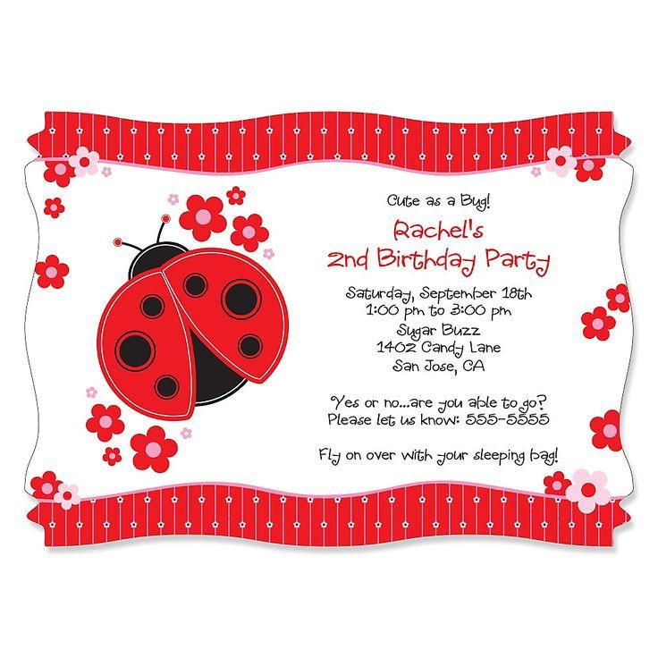 20 best Ladybug Baby Shower Invitations images on Pinterest ...
