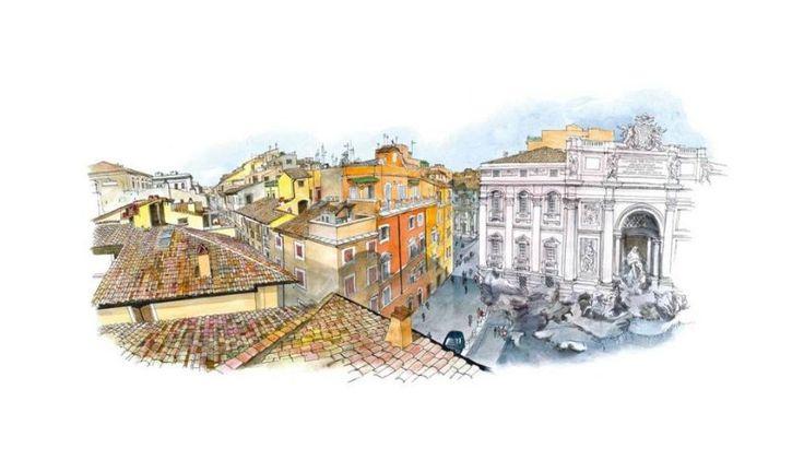 Franco Bevilacqua I tetti di Roma