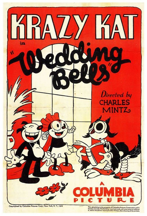 Vintage cartoon poster | Krazy Kat ...........click here to find out more http://googydog.com