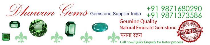 100% Genuine, Natural Emerald Gemstone (Panna Stone) India