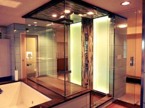3758 best images about walk in shower enclosures on for Bathroom improvement ideas