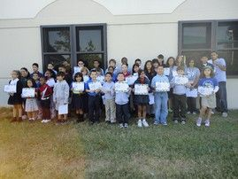 "Imagine Kissimmee Charter School | School-Wide Character Assemblies | Each class recognizes a student for displaying good character. The student gets a certificate describing why they were chosen. Additionally, a guest speaker is invited to each assembly to share anecdotes and advice with the students about why having good character is important in ""real"" life. Some of our guest speakers include local city commissioners, a representative from a food bank and local law enforcement."