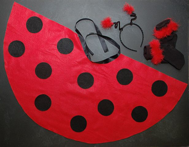 Assemble Your Ladybug Costume.... perfect for the colder night by the beach