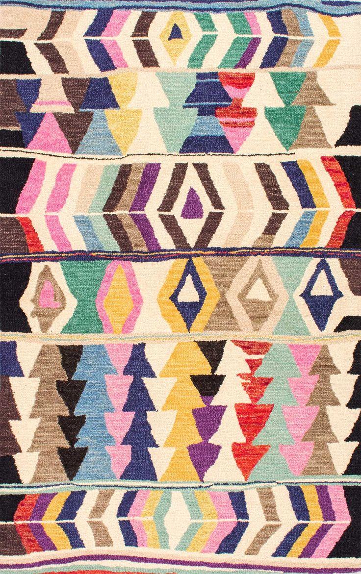 best rugs images on pinterest  area rugs indoor outdoor rugs  - tikalgeometric tribal hand made woolen ah rug