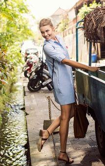 Cotton Oxford Dress / Cuyana