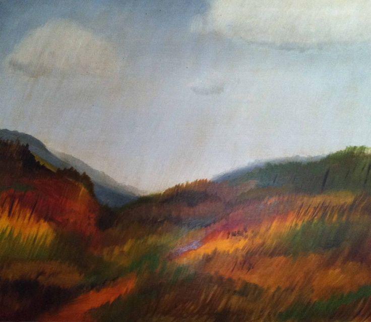 Light ran – oil on canvas
