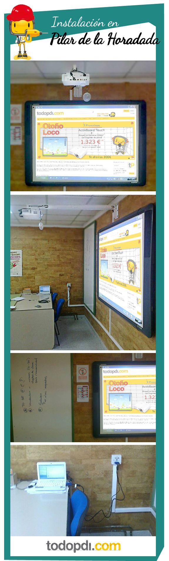 Estos días nuestro equipo de instalación ha ido hasta el Pilar de la Horadada a instalar, en 3 aulas: 3 pizarras digitales #Promethean de la serie 500 +info: http://www.todopdi.com/-pizarras-digitales-promethean/26-activboard-578-peu.html, 3 #proyectores #Optoma X305ST +info: http://www.todopdi.com/home/156-proyector-optoma-x305st-.html y cableado.