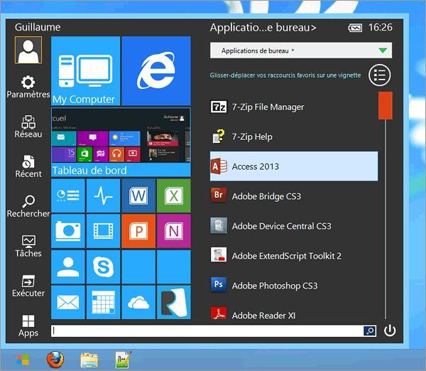 Créez un menu Démarrer sous Windows 8