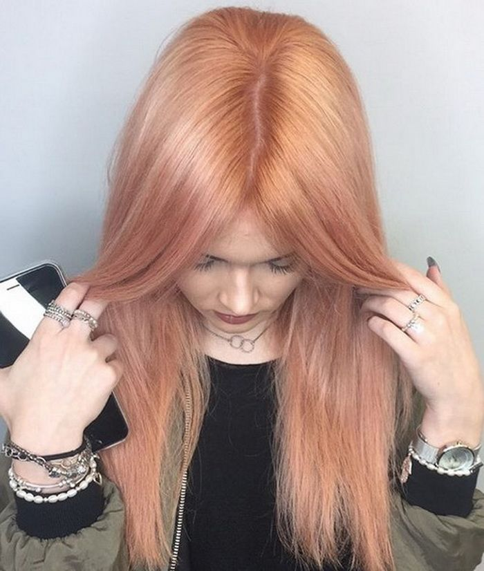 Long Strawberry Blonde Hair Color 2018 2019 With Subtle Blonde