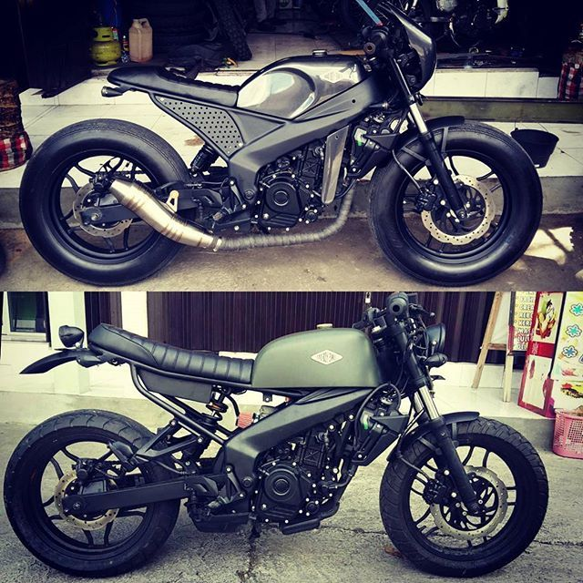 TOP or BOTOM ?? Kawasaki pulsar 200ns #treasuregarage #bali #custom #motorcycle #forrent #forsale