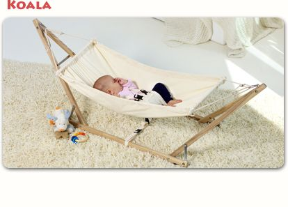 A cute hammock + stand for my baby, would be a great project.