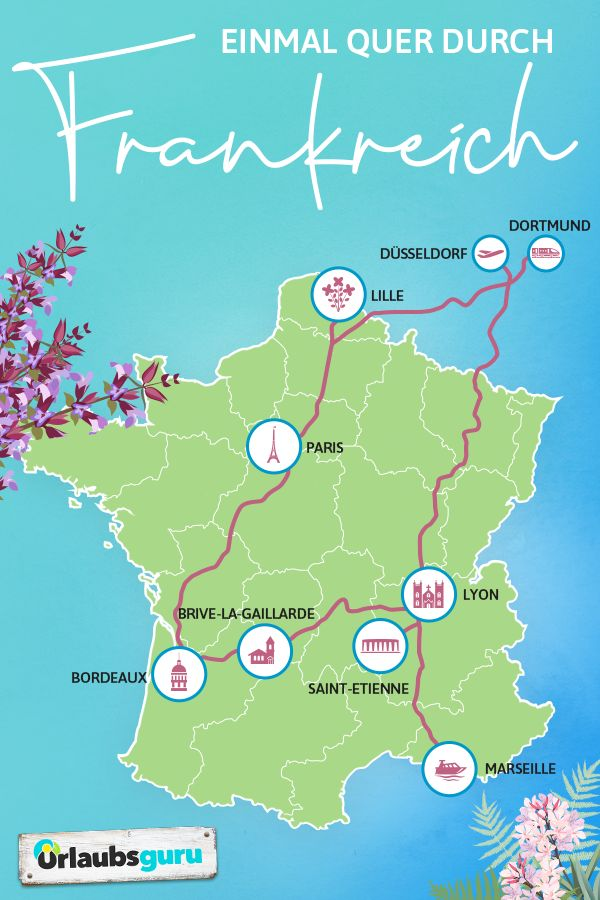 Roadtrip quer durch Frankreich
