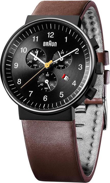 Braun BN0035 Classic Chronograph Black/Brown