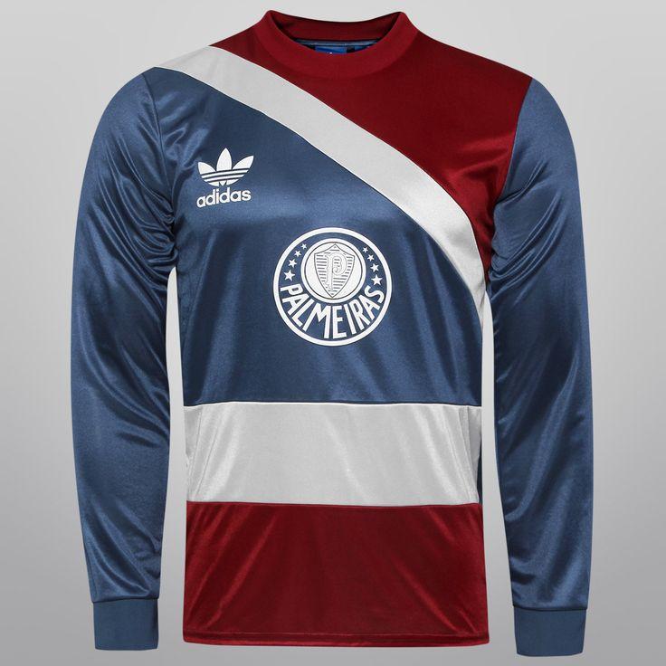 Camisa Adidas Palmeiras Goleiro Retrô M/L Marinho | Netshoes