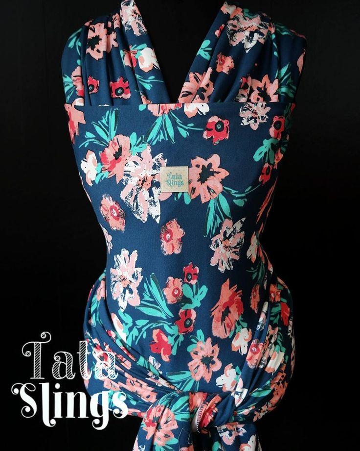 Tatá Sling Tropicália  Tecido Elástico com maior suporte de peso (12kg). Lindo e alegre para colorir os dias ;)
