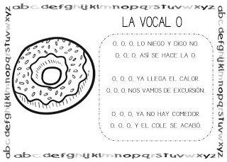 Mi grimorio escolar: CANCIÓN DE LA VOCAL O