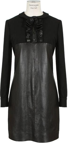 SAINT LAURENT Leather Lamb Dress - Lyst