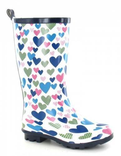 Jileon Wellies - Blue Heart Wellies, £15.99 (http://www.jileon.com/girls-blue-heart-wellies/)