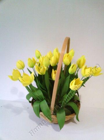 Создаем корзину весенних цветов из фоамирана - Ярмарка Мастеров - ручная работа, handmade