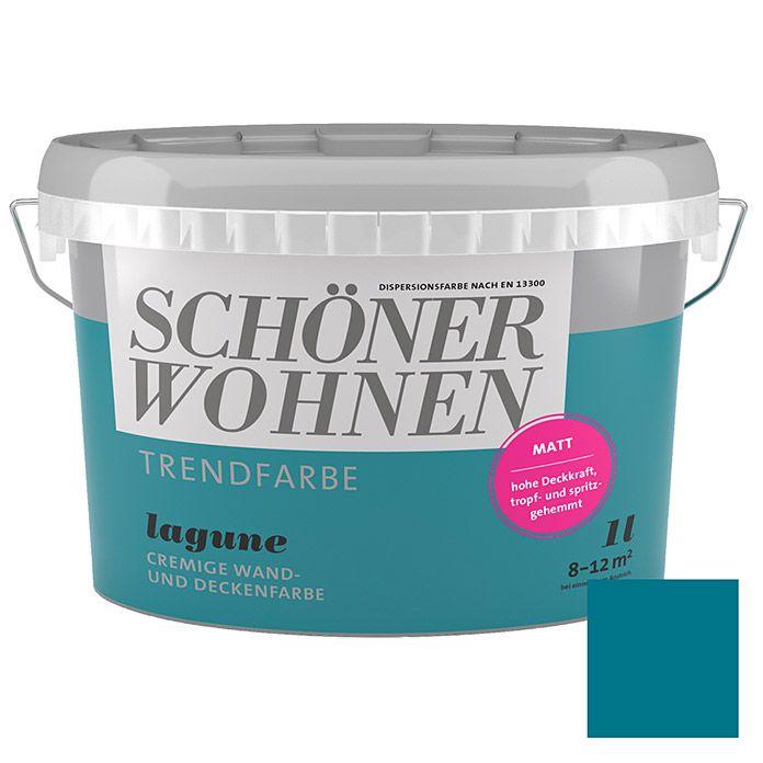 Schoner Wohnen Wandfarbe Trendfarbe Lagune 1 L Matt Schoner Wohnen Wandfarbe Schoner Wohnen Trendfarbe Wandfarbe