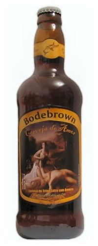 Cerveja Bodebrown Cerveja do Amor, estilo Fruit Beer, produzida por Cervejaria Bodebrown, Brasil. 5% ABV de álcool.