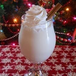 "Luscious Eggnog I ""Yummy! I wanted a great recipe that contained no raw eggs and this was it! A few cloves and a cinnamon stick to the sauce pan were all the changes I made. """