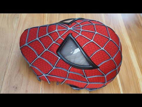 Spider-Man Costume Replica Mask with Magnetic Eye Frames (unfinished) - YouTube