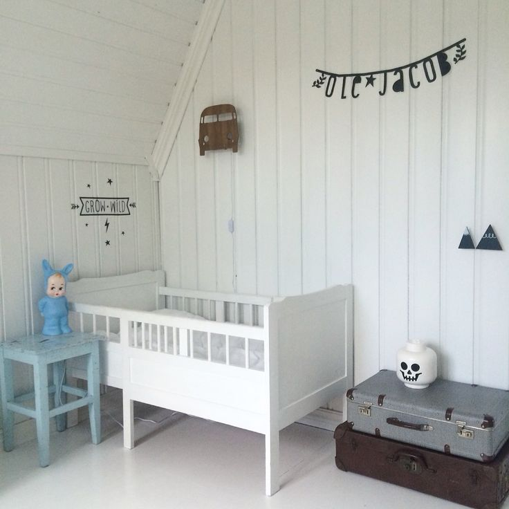 Bedroom boy kids scandinavian old new interior decor nursery