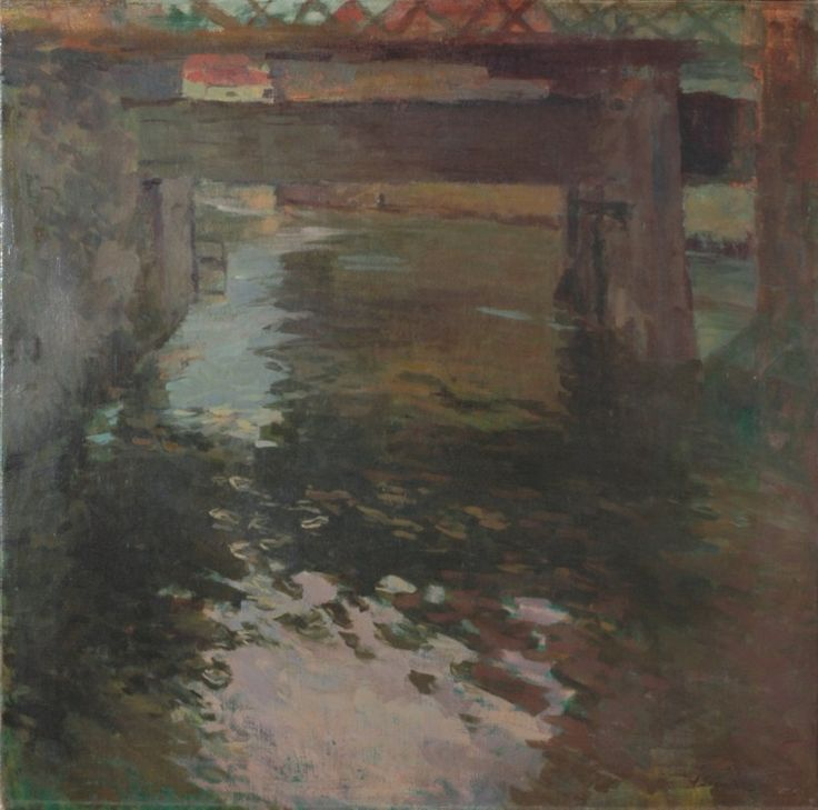 ANTONÍN SLAVÍČEK (1870-1910) bridge on Kampa, Prague, Můstek na Kampě, kolem 1906