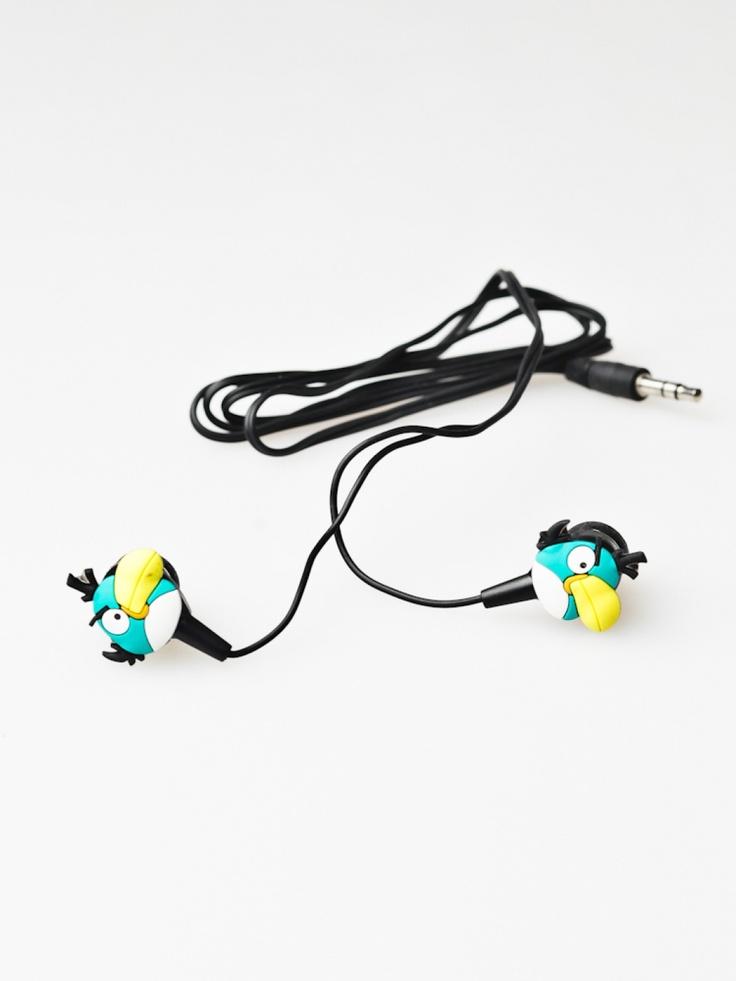 Angry Birds, czarne słuchawki
